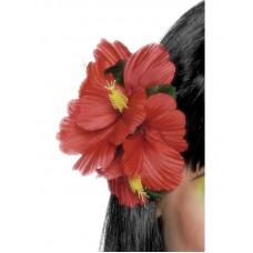 Clip fiore hawaiiano rosso