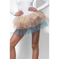 Gonna tutu multicolore con brillantini