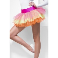 Gonna tutu multicolore neon