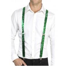 Bretelle con paillettes verdi