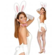 Kit da coniglietta bianca con paillettes