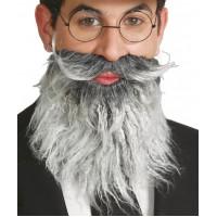 Barba e baffi brizzolati