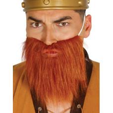 Barba corta castana
