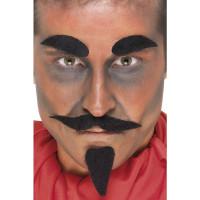Baffi, barba e sopraciglia da diavolo