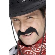 Baffi da cowboy neri