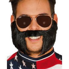 Barba con basette nera