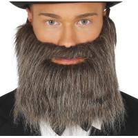 Barba grigia brizzolata