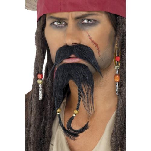 Barba nera pieno BARBA CON BAFFI CARNEVALE BARBA Carnevale Baffi Barba Carnevale