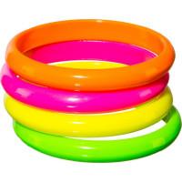 Set di 4 braccialetti neon