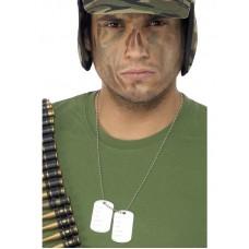Collana militare con 2 piastrine