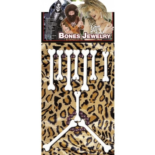 Voodoo Set Da Donna Costume Donna Caverne Ossa KIT Adulti Costume Accessorio