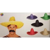 Cappello sombrero messicano con palline blu