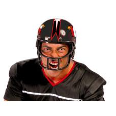 Casco da giocatore di football nero