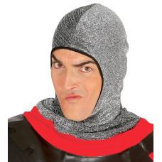 Cappello cuffia a maglia effetto metallico