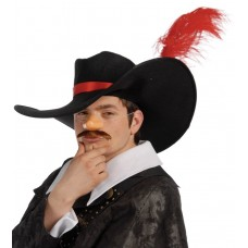 Cappello da moschettiere con piuma