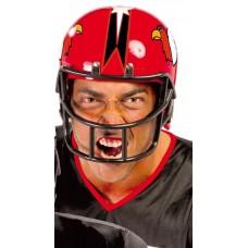 Casco da giocatore di football rosso