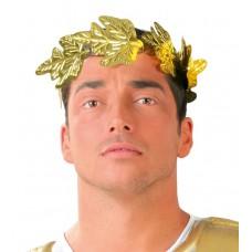 Corona con foglie dorate