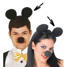 Cerchietto con orecchie da topo