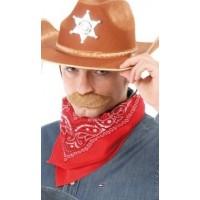 Bandana foulard da cowboy rossa