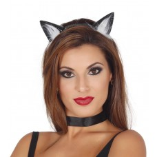 Fascia per testa con orecchie da gatta