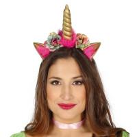Cerchietto da unicorno con fiori