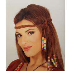 Fascia per testa con perline
