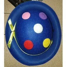 Cappello mini da pagliaccio blu
