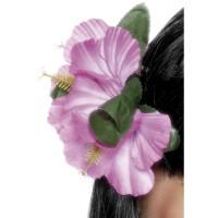 Clip fiore hawaiiano violetto