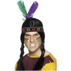 Fascia per testa da indiano con piume
