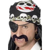Bandana da pirata con teschi e catene
