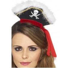 Cappello mini da pirata con piume