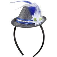 Cappello mini bavarese con piume