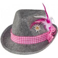 Cappello bavarese con spilla rosa