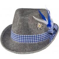 Cappello bavarese con spilla blu