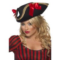 Cappello da pirata con fiocchi