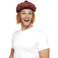 Cappello scozzese con pom pom