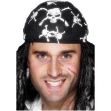 Bandana da pirata con teschi e ossa