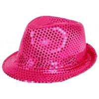 Cappello con paillettes pink