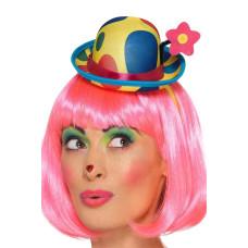 Cappello mini da pagliaccio con fiore