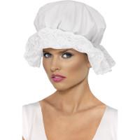 Cappello cuffia da domestica con pizzo