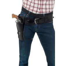 Cinturone con fondina nera per pistola singola