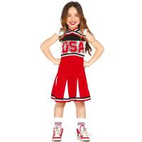 Costume per bambina da cheerleader