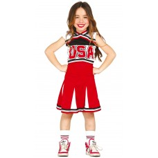 Costume per bambina da cheerleader