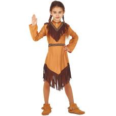 Costume per bambina da indiana nativa
