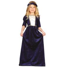 Costume per bambina da damigella medioevale