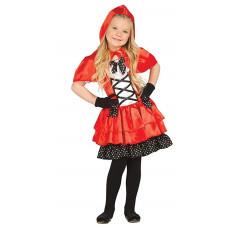 Costume per bambina da cappuccetto rosso elegante