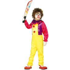 Costume per bambino da pagliaccio assassino