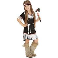 Costume per bambina da indiana miwok