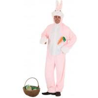 Costume a tuta da coniglio rosa