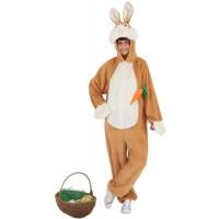Costume a tuta da coniglio marrone
